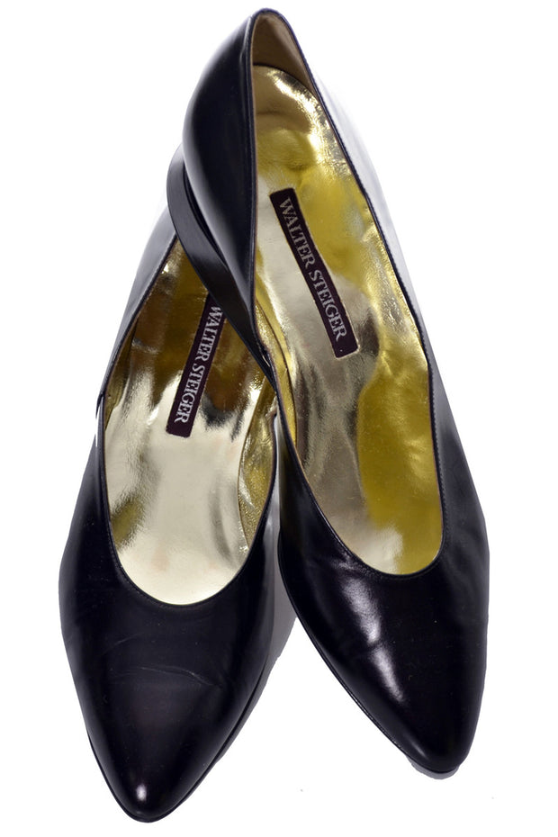 10B Walter Steiger Two Toned Vintage Shoes Handmade in Italy - Dressing Vintage