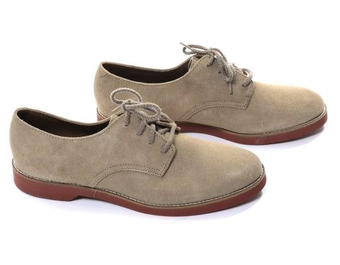 New in Box Vintage Westbound Tan Suede Women's Oxfords Size 8.5 N - Dressing Vintage
