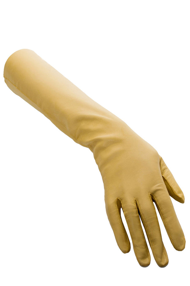 Hammer Of Hollywood yellow kid leather vintage gloves - Dressing Vintage