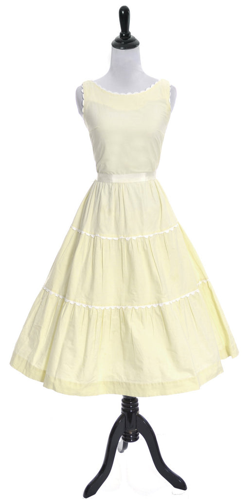 Betty Barclay vintage yellow dress