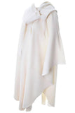 Vintage winter white wool hooded cape