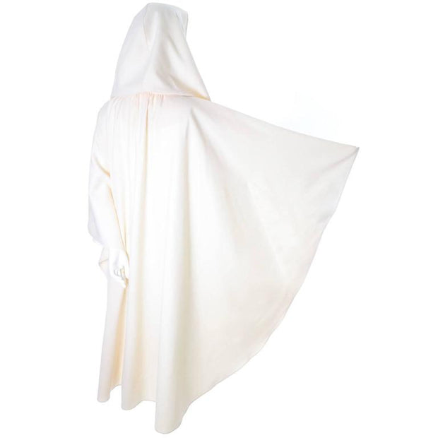 Vintage hooded cape in winter white wool