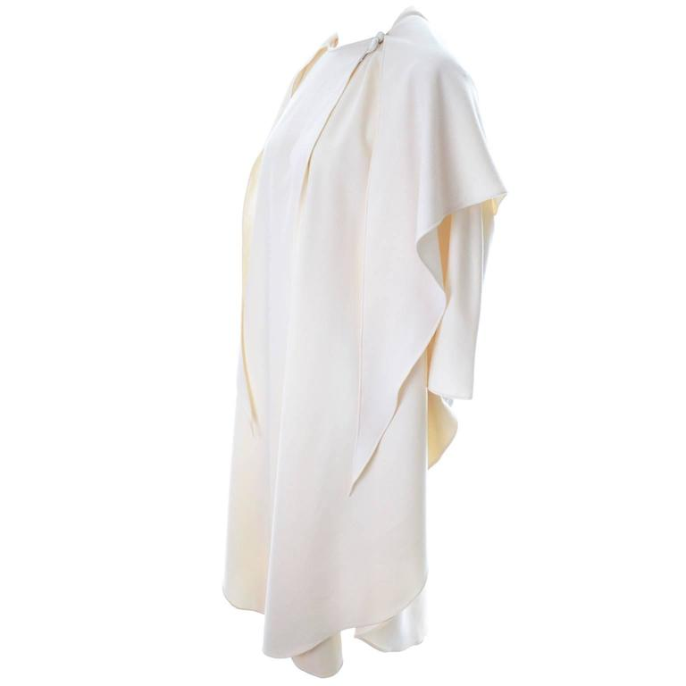 One size vintage white cape