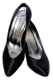 Yves Saint Laurent YSL Black Satin Heels 7M - Dressing Vintage