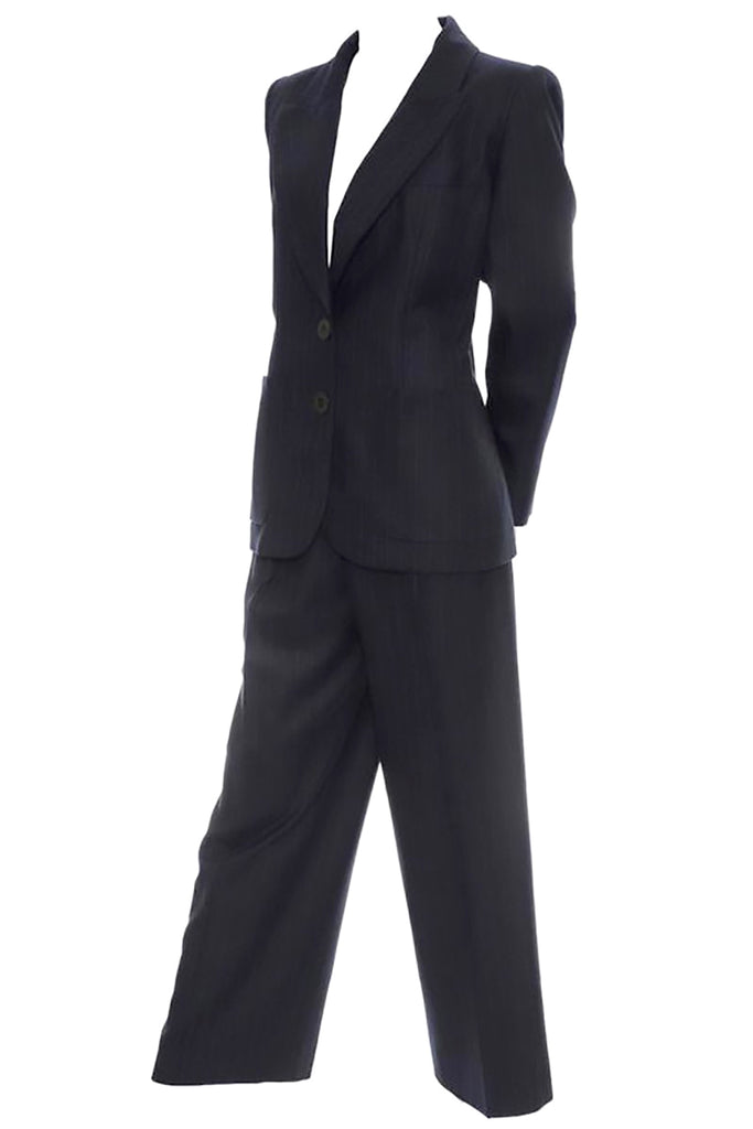 Midnight blue vintage pantsuit by Yves Saint Laurent