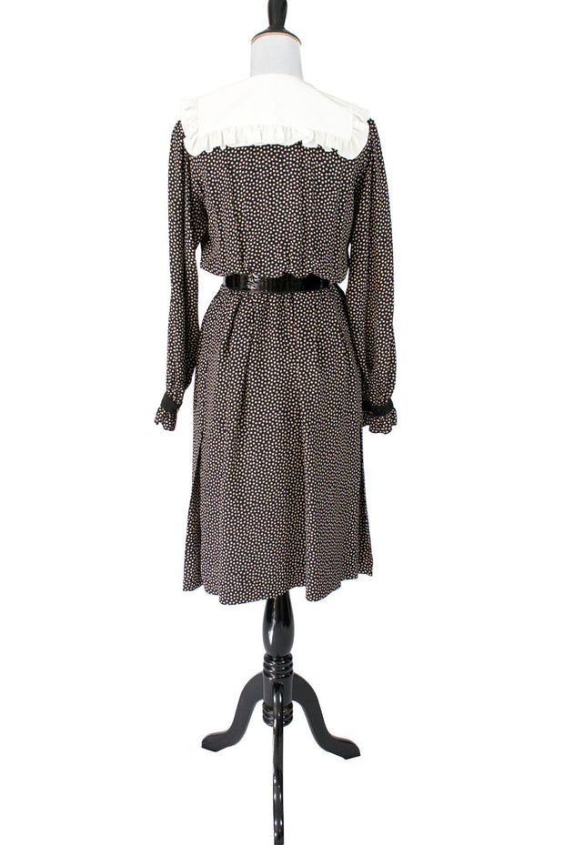 Yves Saint Laurent Rive Gauche Polka dot vintage dress - Dressing Vintage