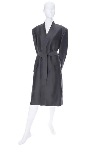 Men's Yves Saint Laurent vintage linen coat in gray