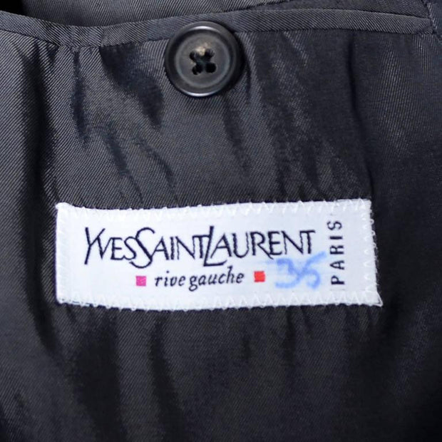 Men's YSL yves saint laurent vintage gray long coat