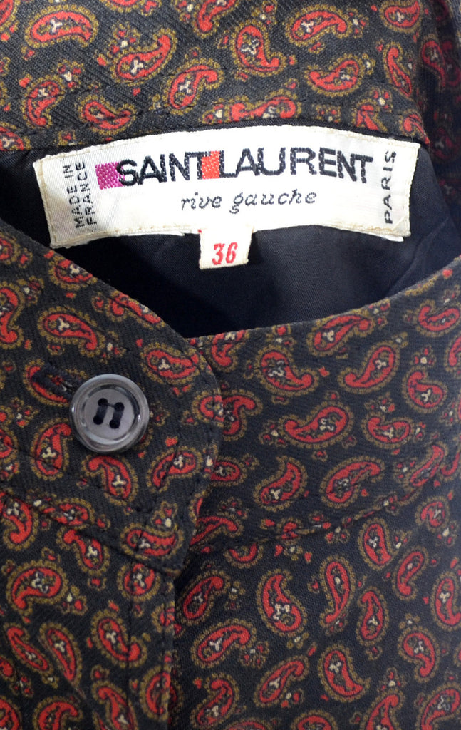 Vintage Yves Saint Laurent Rive Gauche 1970's peasant dress