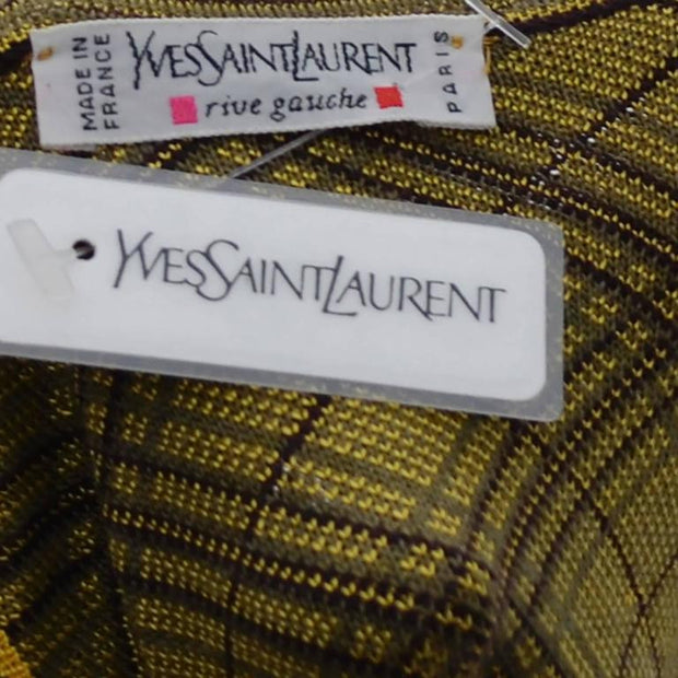 Deadstock NWT Yves Saint Laurent YSL vintage plaid caftan for men