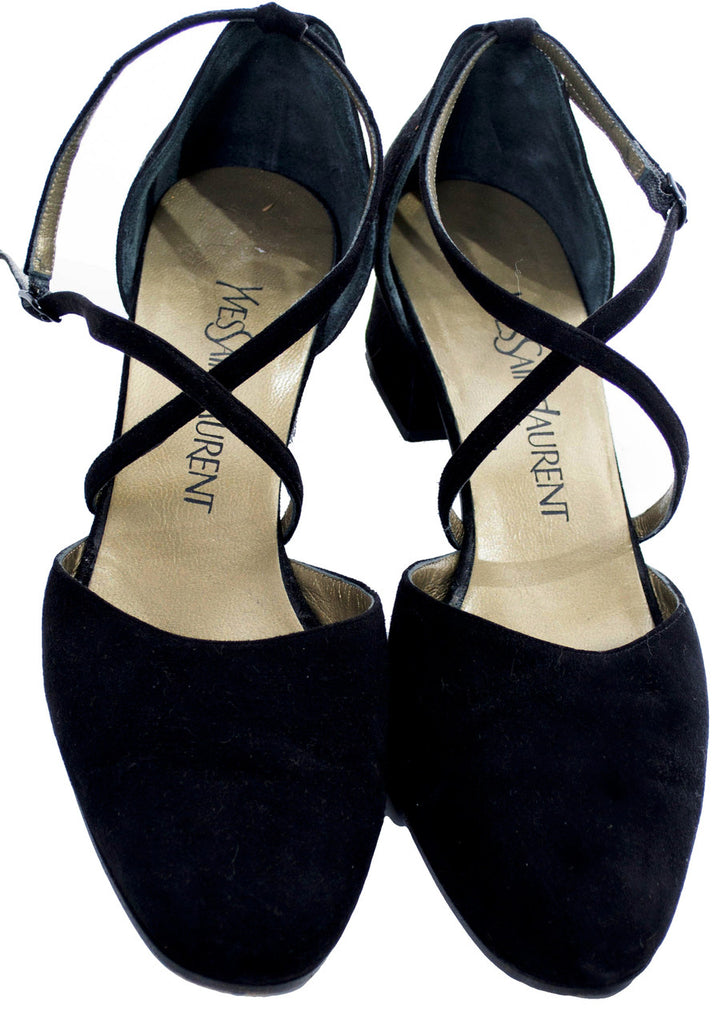 Vintage designer shoes yves saint laurent