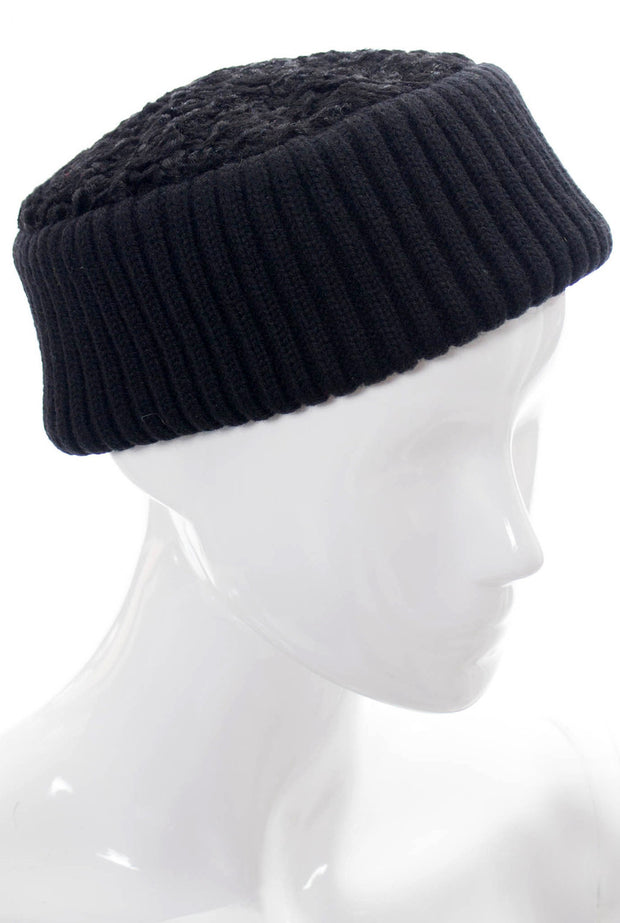 Yves Saint Laurent Hat Curly lambswool knit SOLD - Dressing Vintage