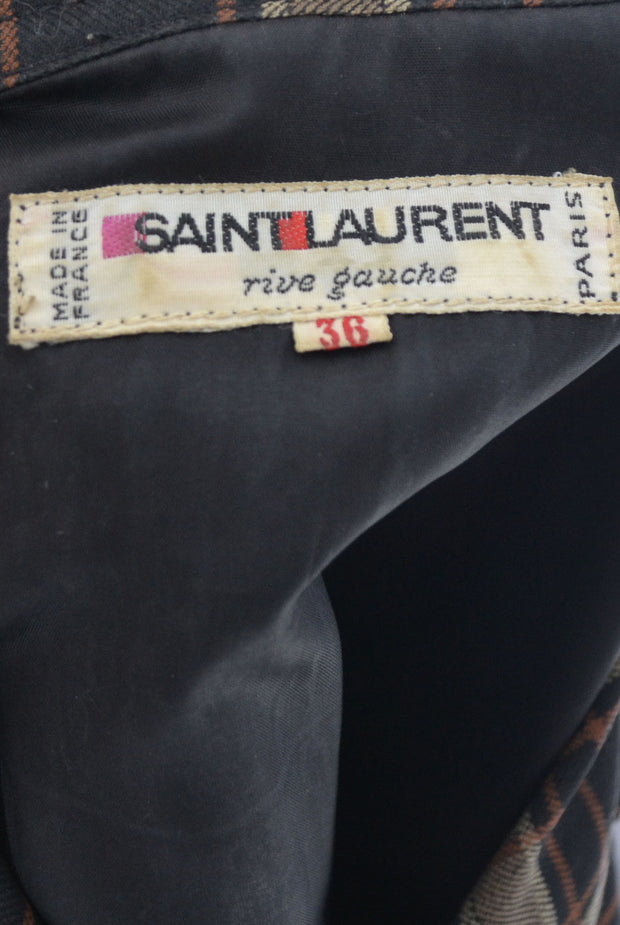 1970's Yves Saint Laurent Rive Gauche Russian Peasant Vintage Dress - Dressing Vintage