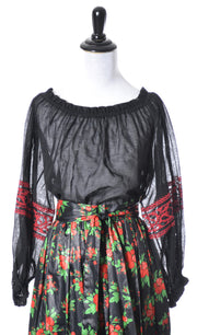 1970's Vintage Yves Saint Laurent Rive Gauche Peasant Blouse SOLD - Dressing Vintage