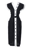1980s black and white Yves Saint Laurent Dress