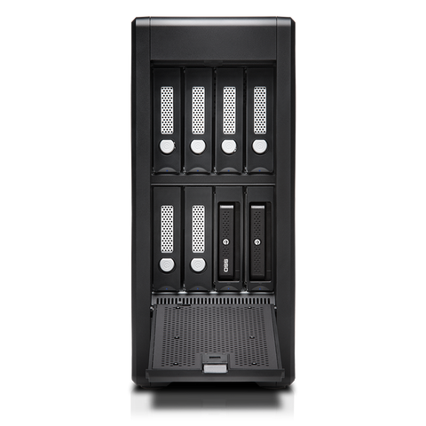 G-Speed Shuttle XL Thunderbolt3 8bay EV series FOCUS FRONT VIEW EV SERIE