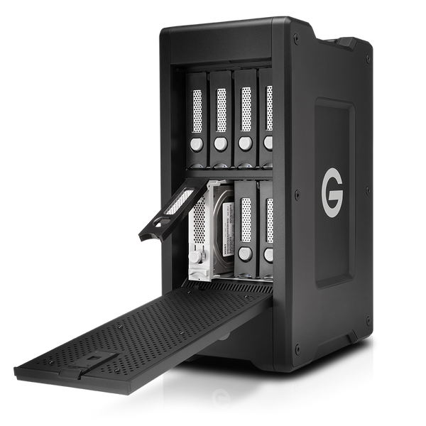 G-Speed Shuttle XL Thunderbolt3 8bay front open view