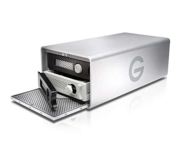 G-RAID Thunderbolt 3 / USB3 with removable dual drive side view open front door