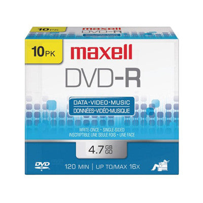 DVD-R with logo in slim case  16X Pk10