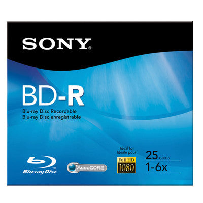 BD-R 25GB Branded Sony 6X Pk1