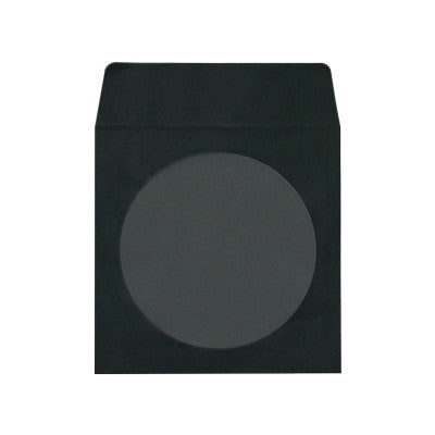 CD/DVD paper black sleeve with window