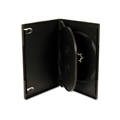 Triple DVD case black with flip