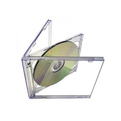 Double CD Jewell case with clear tray