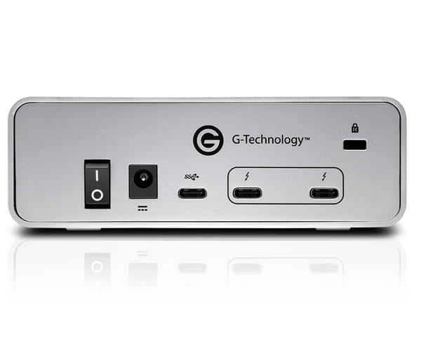 G-DRIVE Thunderbolt 3 /USB-C 4TB BACK VIEW