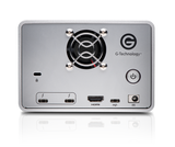 G-RAID Thunderbolt 3 / USB3 with removable dual drive back view
