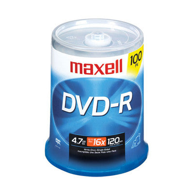DVD-R with logo 16X Pk100