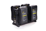 Rolux batteries Quadra chargers for  V Mount  and Gold/AB Mount
