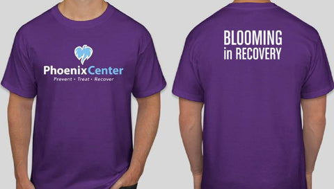 Phoenix Center Recovery Blooming in Recovery Short Sleeve Tee