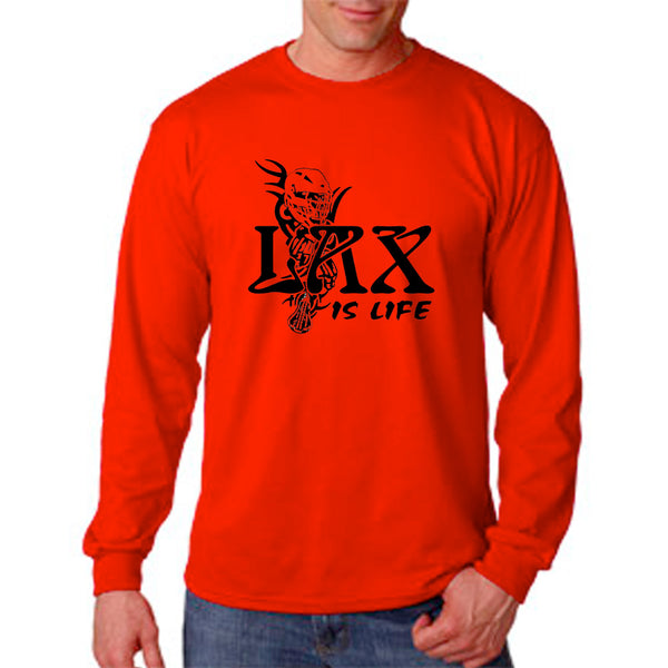 "Lacrosse ""LAX is Life"" Long Sleeve T-Shirt"