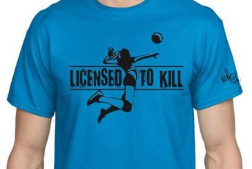 Volley Life® Licensed to Kill (Woman) Short Sleeve T-shirt
