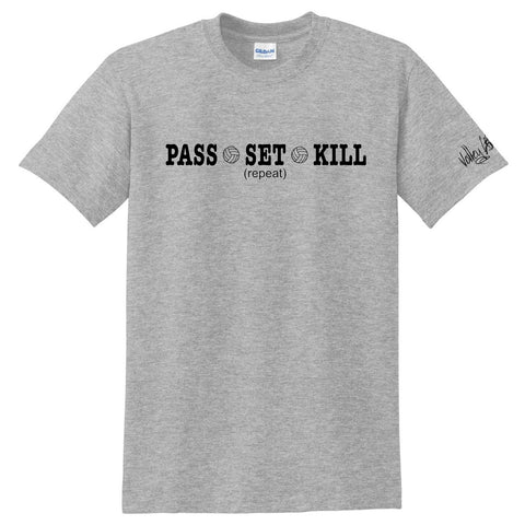 "Volley Life® ""Pass•Set• Kill (repeat)"" Short Sleeve Tee"