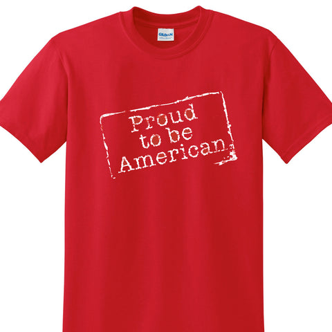 Proud to Be an American Patriotic Tee