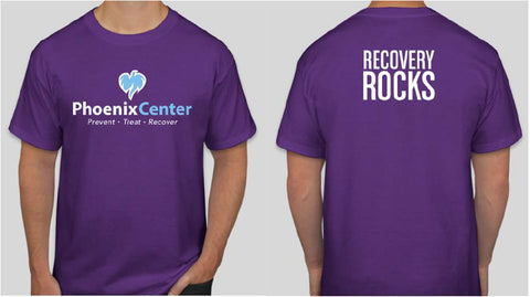 Phoenix Center Recovery Rocks Short Sleeve Tee