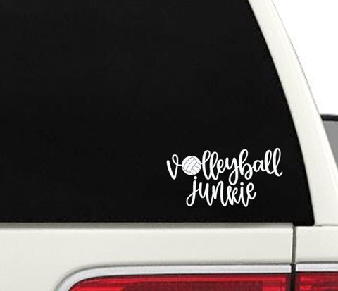 Volleyball Junkie Window Decal