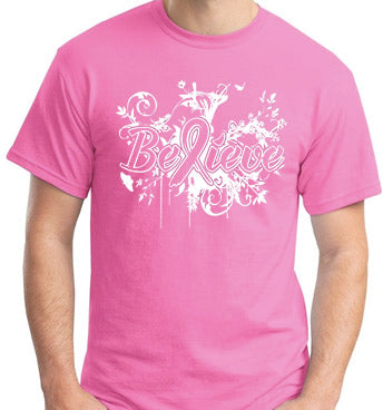 "Breast Cancer Awareness ""Believe"" T-Shirt"