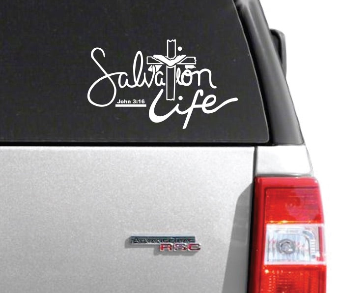 Salvation Life Window Decal