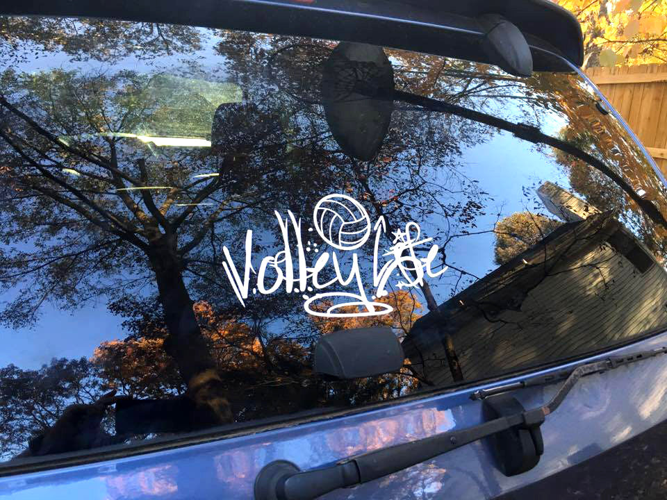 Volley Life® Window Decal