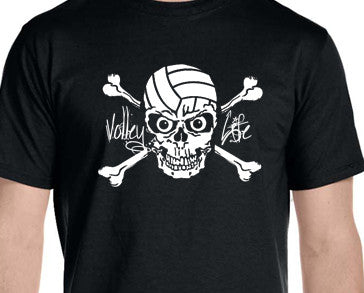 Volley Life® Skull and Crossbones Short Sleeve T-Shirt
