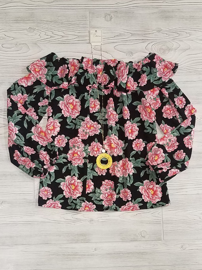 Shauna Floral Off-the-Shoulder Tops