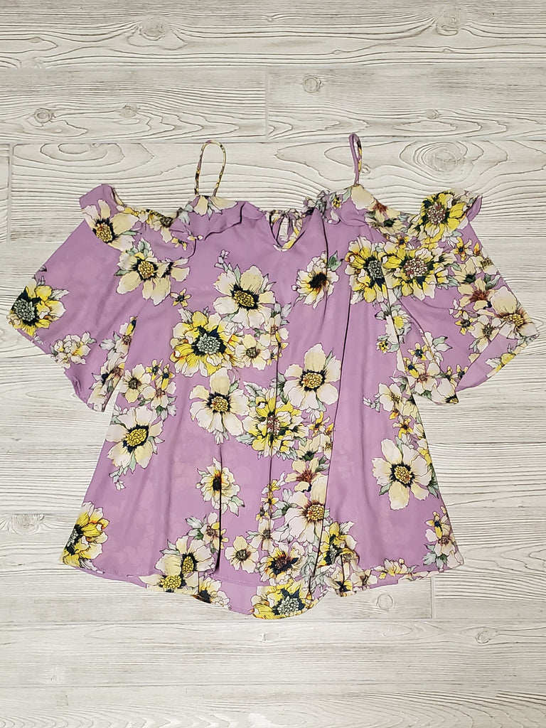 Jillian Flutter Top - Lavender