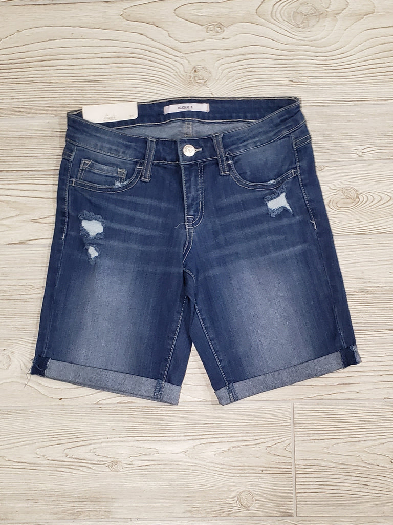 Klique B Denim Shorts Mid-Wash