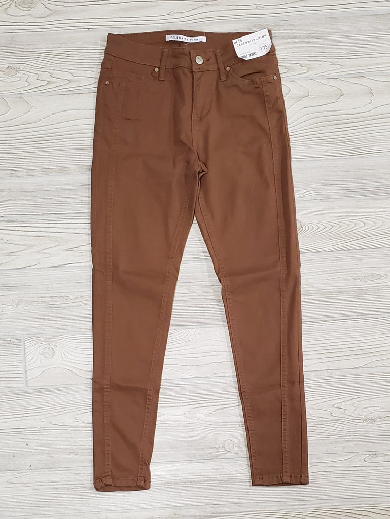 Rust Mid-Rise Skinny with Double Seam