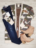 Dawn Camo Long Sweater Cardigans