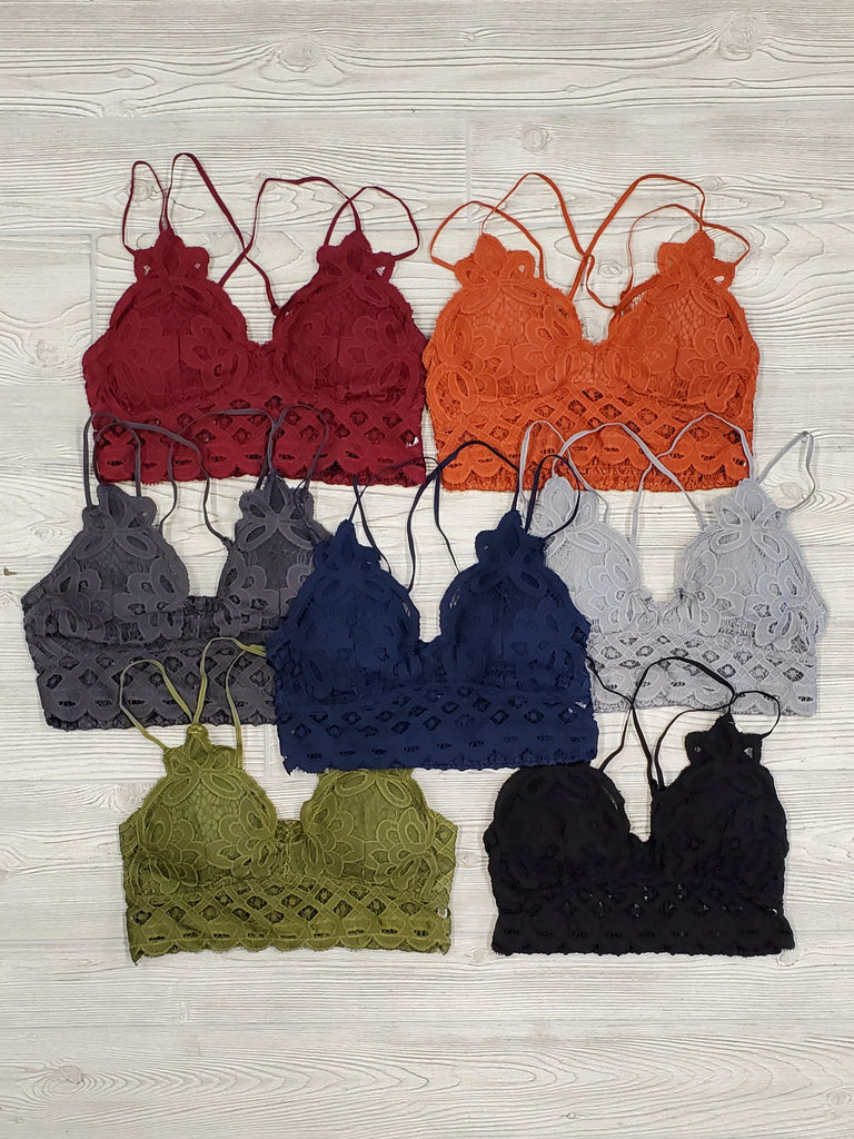 Lace Padded Bralettes - Multi