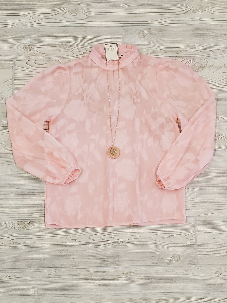 Dianne Puff Sleeve Blush Top
