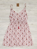 Mollie Ivory Dress with Floral Accents